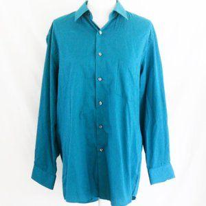 Van Heusen Blue Satin Stripe Shirt